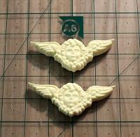 138-Ангелы с крыльями, 2 шт      3,8*1,5см