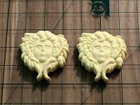 140-Набор шильды с ангелами, 2 шт   2,5х3 см