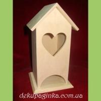 Чайный домик с окошком сердечко