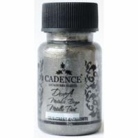 Акриловая краска Cadence Dora Metallic Paint, 50 мл, антрацит