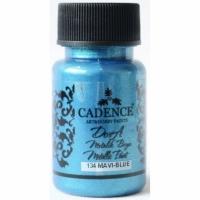 Акриловая краска Cadence Dora Metallic Paint, 50 мл, голубой