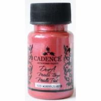 Акриловая краска Cadence Dora Metallic Paint, 50 мл, красный