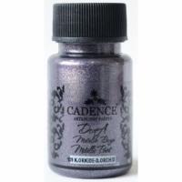 Акриловая краска Cadence Dora Metallic, 50 мл, темная орхидея