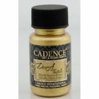 Краска для ткани металлик Cadence Dora Textil, 50 мл, золото