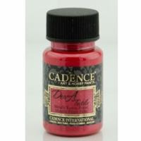 Краска для ткани металлик Cadence Dora Textil, 50 мл, красный
