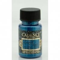 Краска для ткани металлик Cadence Dora Textil, 50 мл, синий