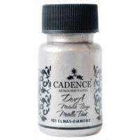 Акриловая краска Cadence Dora Metallic, 50 мл, бриллиантовый