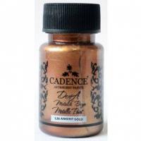 Акриловая краска Cadence Dora Metallic, 50 мл, далёкое золото