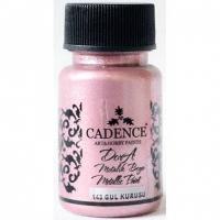 Акриловая краска Cadence Dora Metallic, 50 мл, засушенная роза