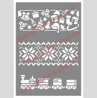 Новогодний орнамент, 15х21 см