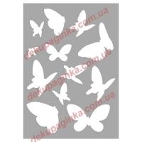 Трафарет Бабочки-4, 15х21 см