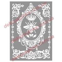 Трафарет Королевский герб, 15х21 см