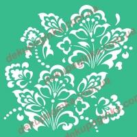 Трафарет Цветочный орнамент-5, 18х18 см