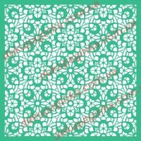 Трафарет Цветочный орнамент-6, 18х18 см