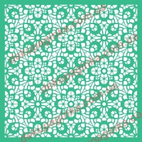 Трафарет Цветочный орнамент-7, 20х20 см