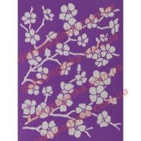 Трафарет Цветущая сакура, 15х21 см