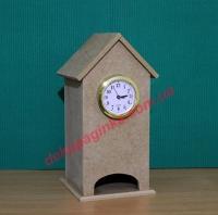 Чайный домик  с часовой капсулой, 10х10х22см, мдф