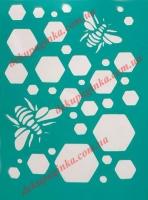 Трафарет Пчелы-Соты, 10х15 см
