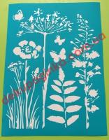 Трафарет Травы, 15х21 см