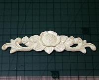 Декор центральный №7 Роза   12*3,6см