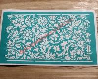 Трафарет Цветочный орнамент-8, 13х21 см