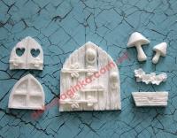 Набор Лесной домик,  7 шт, размер двери 6,5*5 см